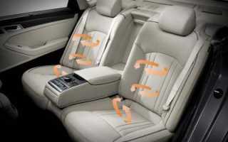 Кнопка подогрева задних сидений