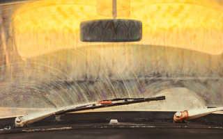 Налет на лобовом стекле снаружи