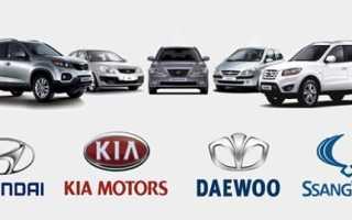 Корейские автомобили марки список