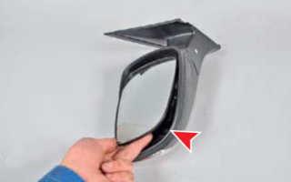 Как разобрать зеркало солярис