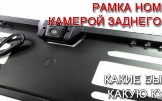 Камера в подсветке номерного знака