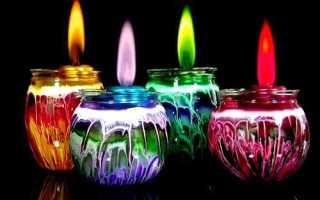 Цвет свечи для здоровья