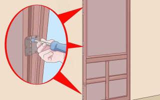 Как приподнять дверь на петлях
