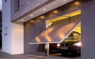 Чертеж гаражных подъемных ворот