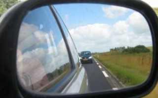 Как поменять зеркало бокового вида