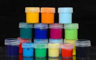 Какие краски не смываются водой