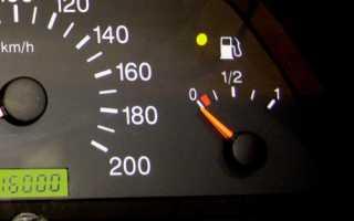 Не показывает уровень топлива 2110
